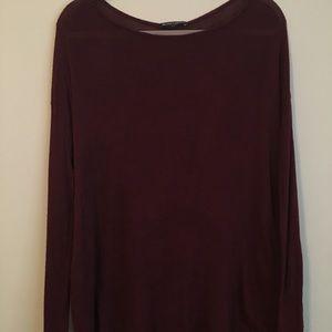 Brandy Melville Burgundy Sweater